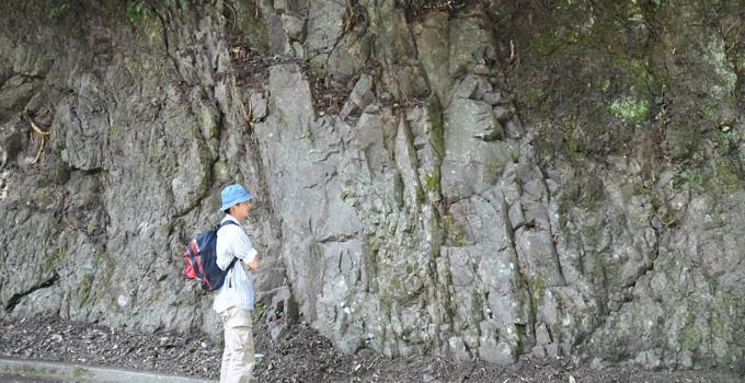 一色的枕状熔岩和岩脉